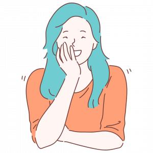 Grafik von einer lachenden Frau